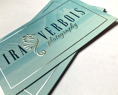 Great business card design and printing for Verbois Photography