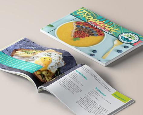 Magazine layout, desktop publishing, recipe books