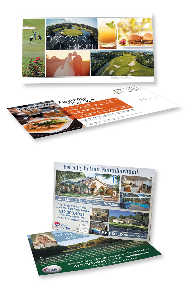 EDDM Direct Mail pieces combined with great graphic design get you noticed
