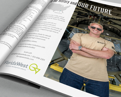 Ad design for magazine and digital media
